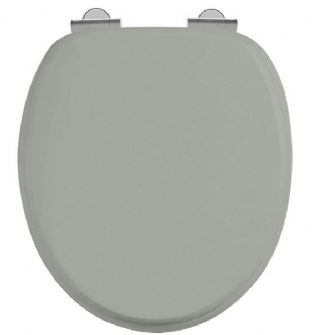 Burlington Soft Close Dark Olive Toilet Seat Chrome Hinges - S44